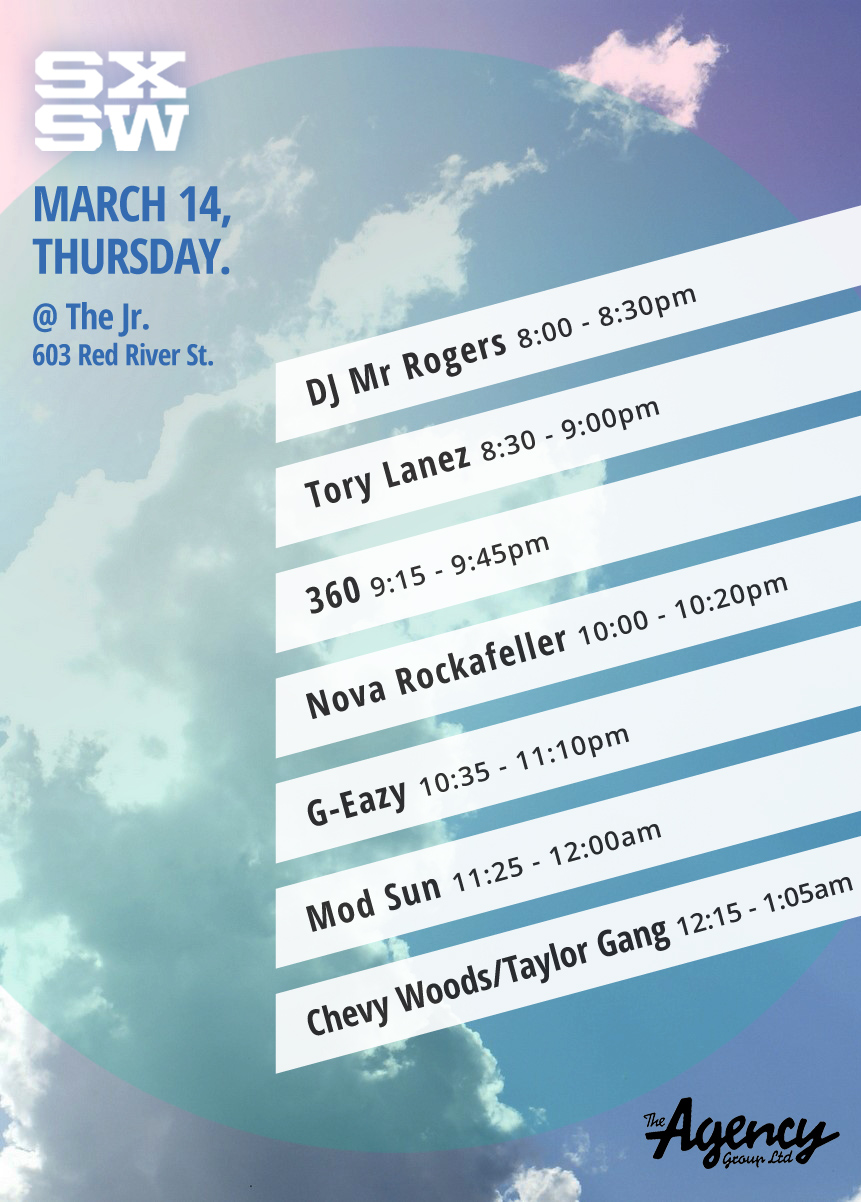 The Agency Group SXSW Invite Taylor Gang